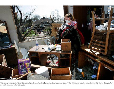 Iowa tornado damage
